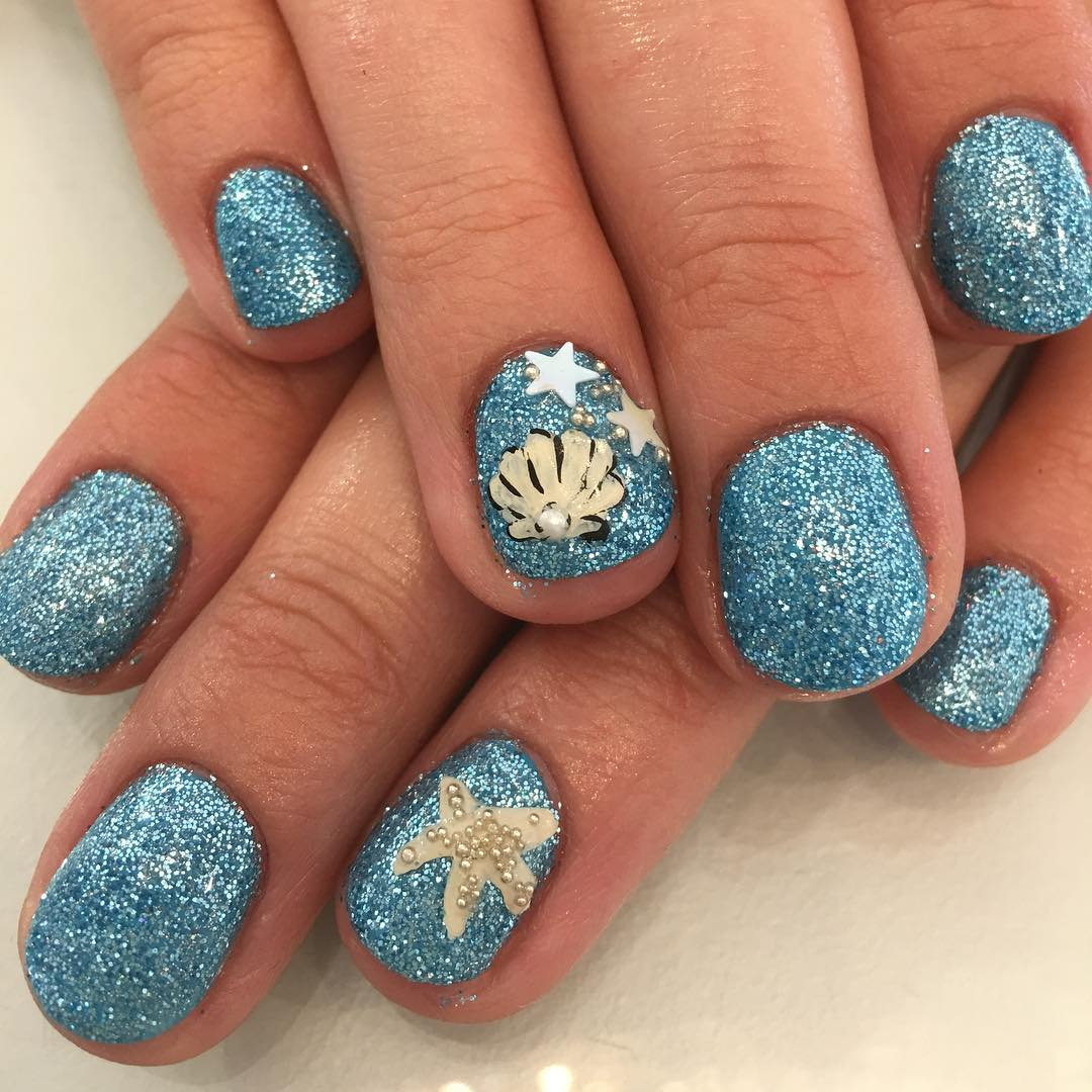 beach ready nail art in Surrey