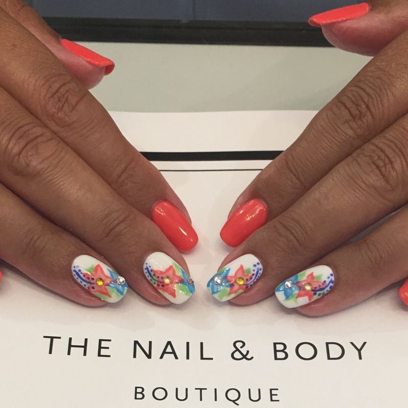 OPI nail art and Shellac gel manicure for nice nails in Surrey